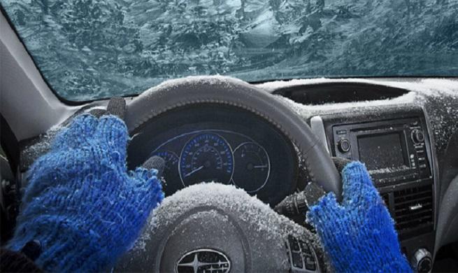 گرم کردن خودرو در هوای سرد زمستان