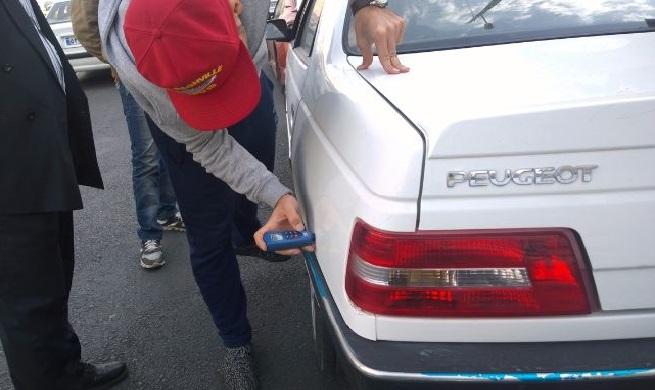 صدمات وارد شده به ماشین را بررسی کنید