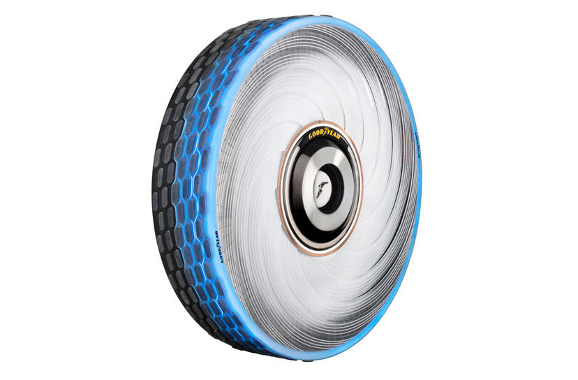 تایرهای جدید شرکت گودیر، می توانند خود را احیا کنند.